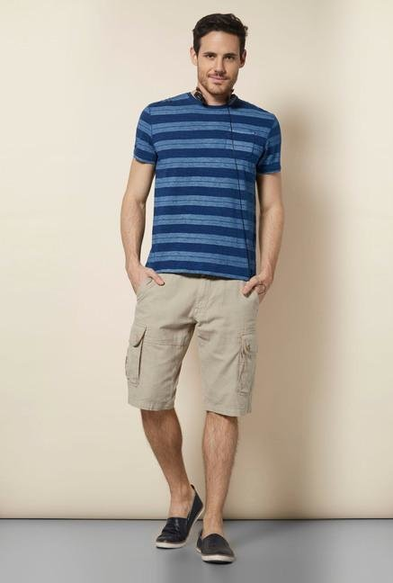 celio* Indigo Crew Neck Cotton T Shirt