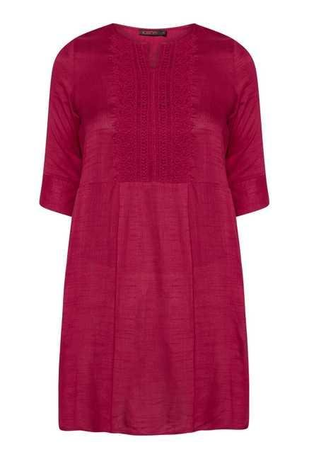109 F Maroon Embroidered Tunic