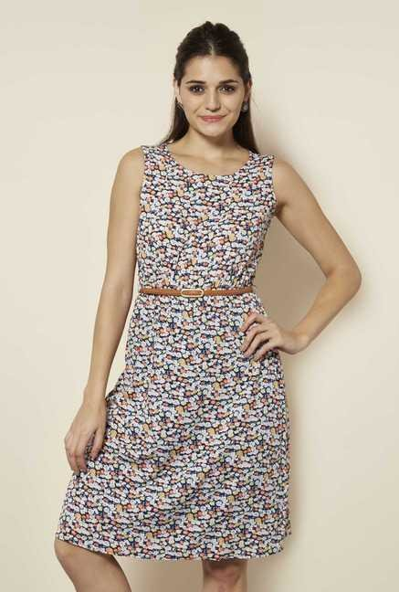 109 F Multicolor Paisley Casual Dress
