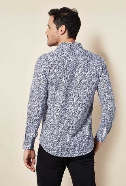 Easies Navy Forest Print Shirt