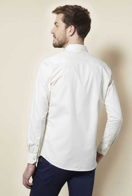 Easies Off White Slim Fit Shirt