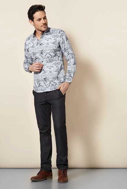 Easies Black Cotton Shirt