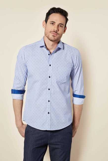 Easies Royal Blue Stripe Shirt