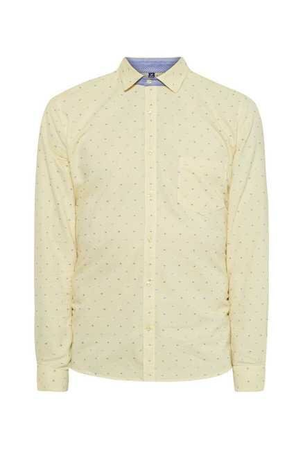 Easies Yellow Slim Fit Shirt