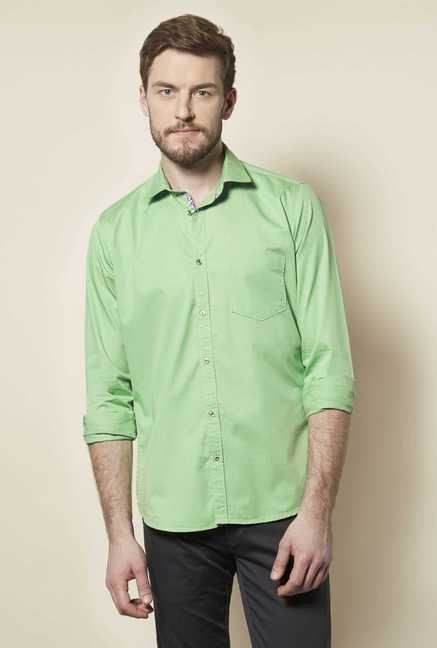 Easies Green Solid Shirt