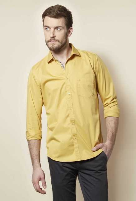Easies Mustard Solid Shirt