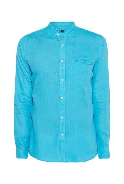 Easies River Blue Cotton Shirt