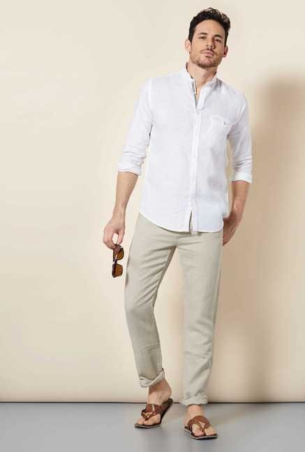 Easies White Swan Cotton Shirt
