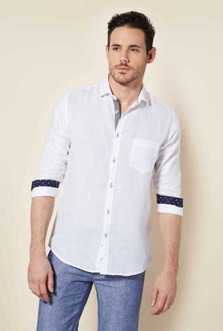Easies White Linen Shirt