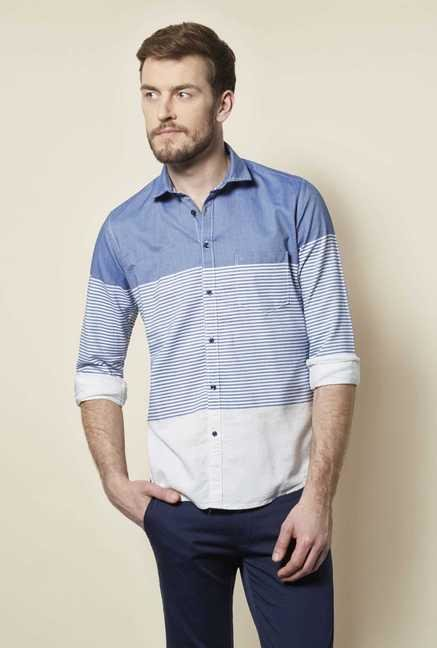 Easies Navy Stripe Shirt
