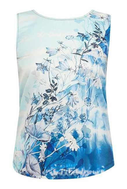 109 F Blue Floral Printed Top