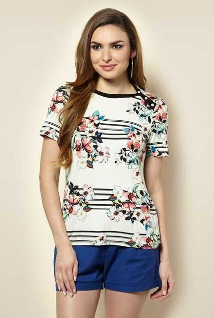 109 F Birch Floral Printed Top