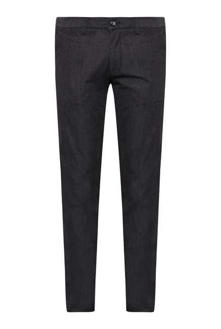 Easies Jet Black Linen Trouser