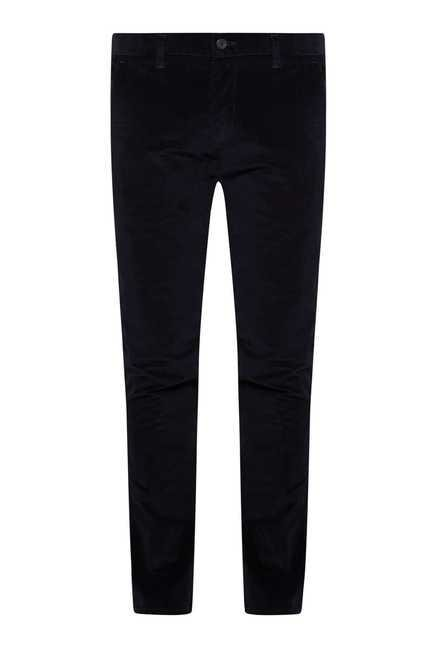 Easies Dark Navy Linen Trouser
