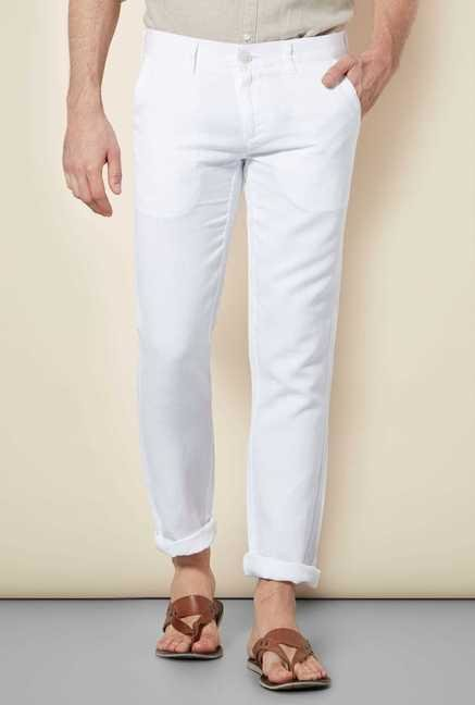 Easies White Linen Trouser