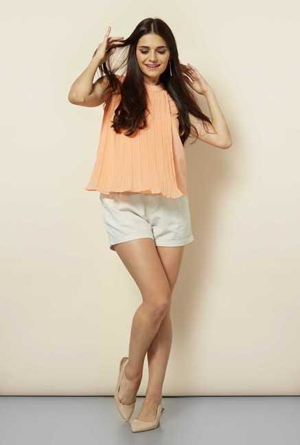 109 F Peach Loose Fit Top