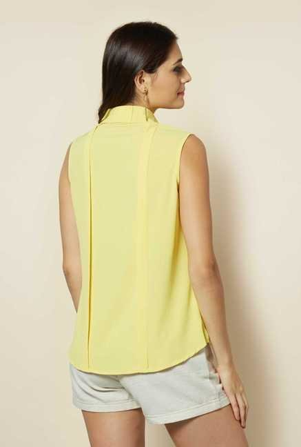 109 F Yellow Crepe Top