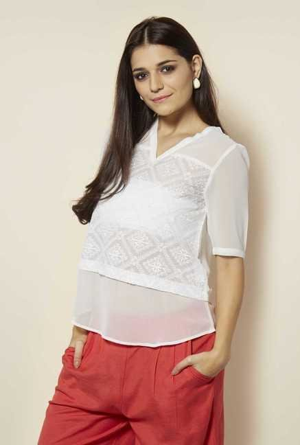 109 F Birch Embroidered Blouse