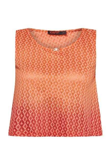 109 F Orange Printed Top
