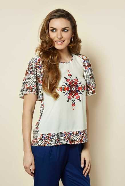 109 F Multicolor Batwing Sleeves Top