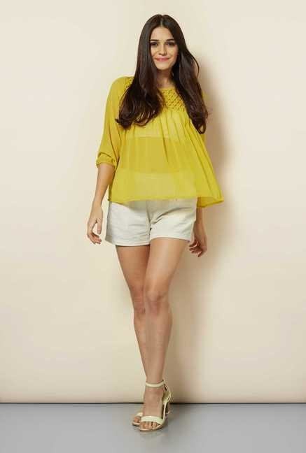 109 F Lime Cuff Sleeves Top