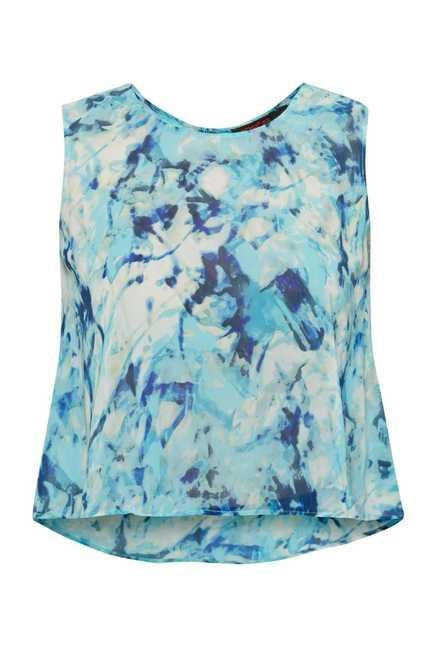 109 F Blue Sheer Georgette Top