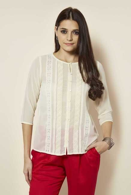 109 F Birch Lace Design Top