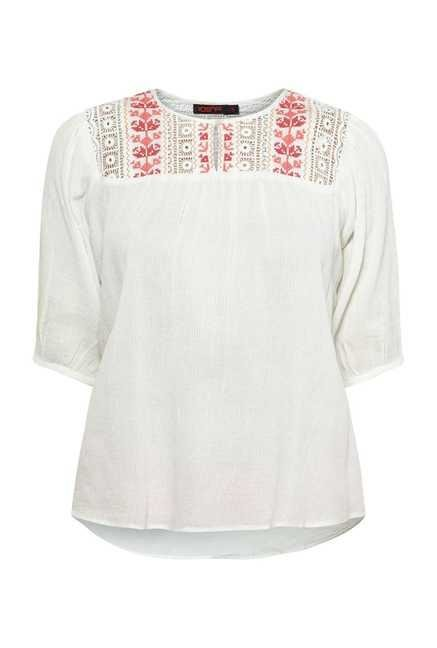 109 F Birch Embroidered Top