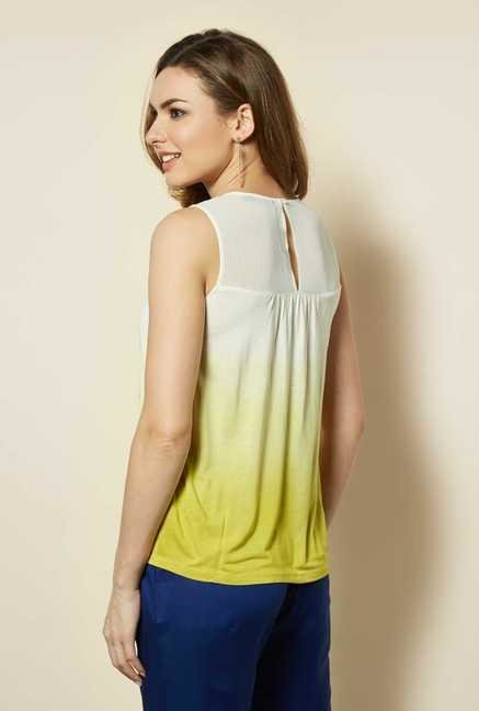 109 F Lime Embroidered Top