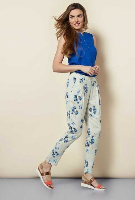 109 F Multicolor Drawstring Trouser