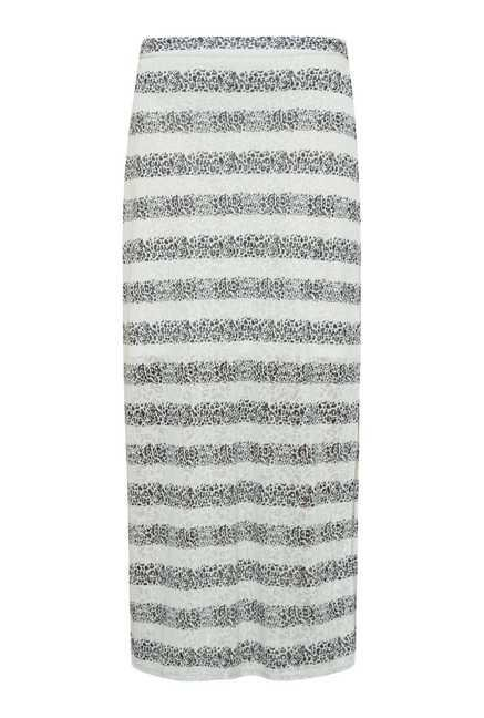 109 F White Stripes Casual Skirt