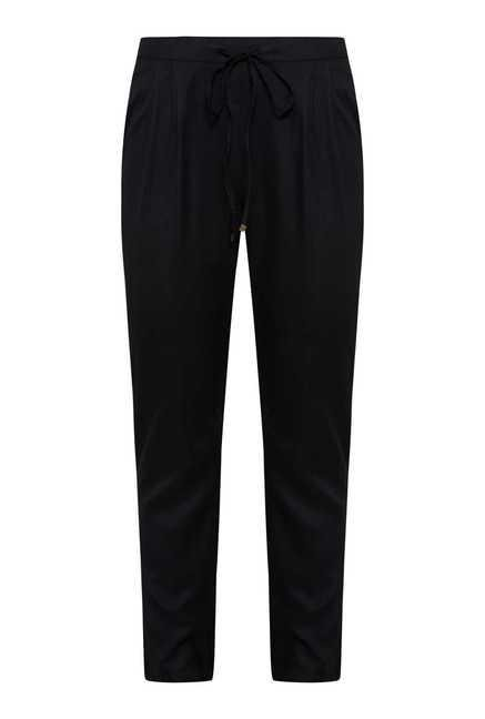 109 F Black Drawstring Trouser