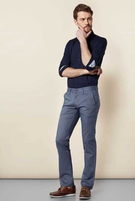 Easies Dark Slate Slim Fit Trouser