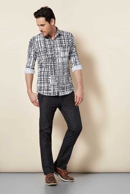 Easies Black Print Shirt