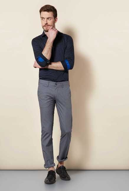 Easies Steel Grey Linen Trouser