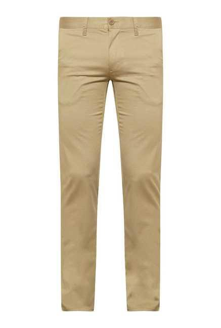 Easies Khaki Linen Trouser