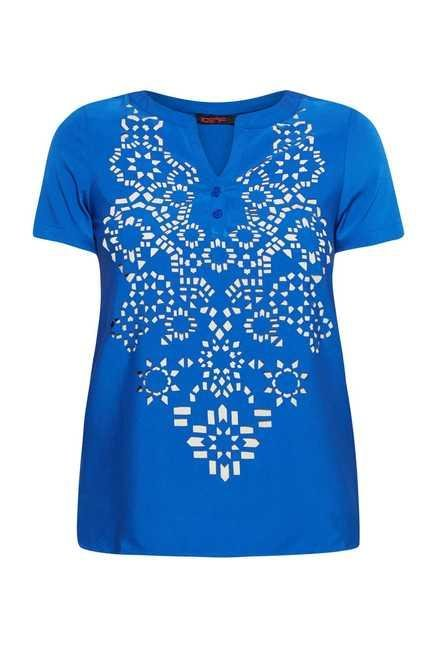109 F Ink Blue Printed Top