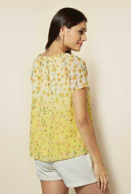 109 F Yellow Bell Sleeves Top