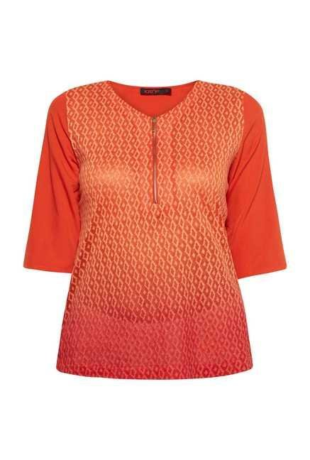 109 F Orange Silk Finish Top