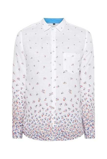 Easies White Flower Print Shirt