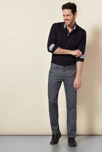 Easies Dark Grey Linen Trouser