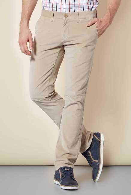 Easies Beige Slim Fit Trouser