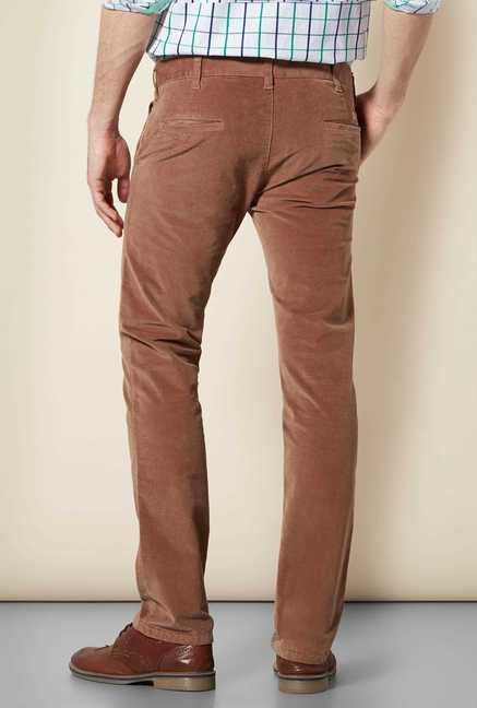 Easies Brown Slim Fit Trouser