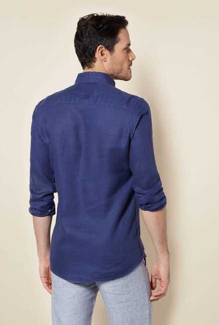 Easies Navy Cotton Shirt