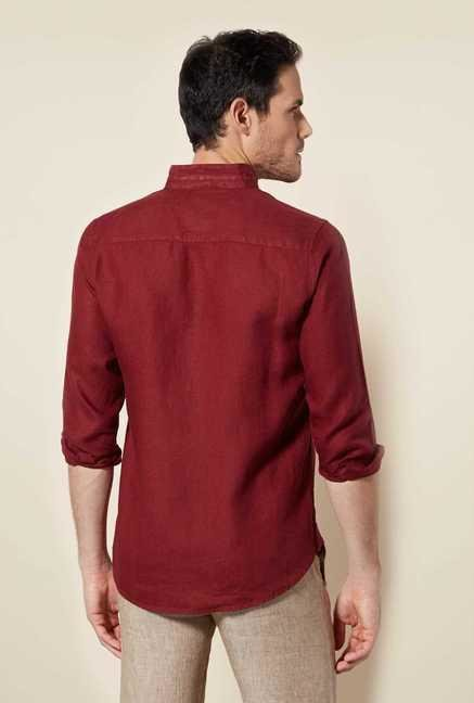Easies Rio Red Cotton Shirt