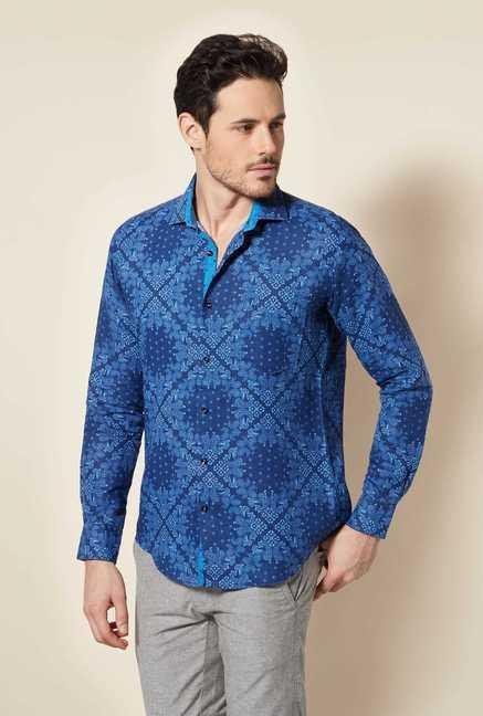 Easies Blue Slim Fit Shirt
