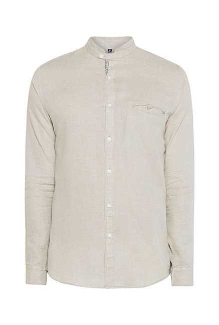 Easies Beige Cotton Shirt