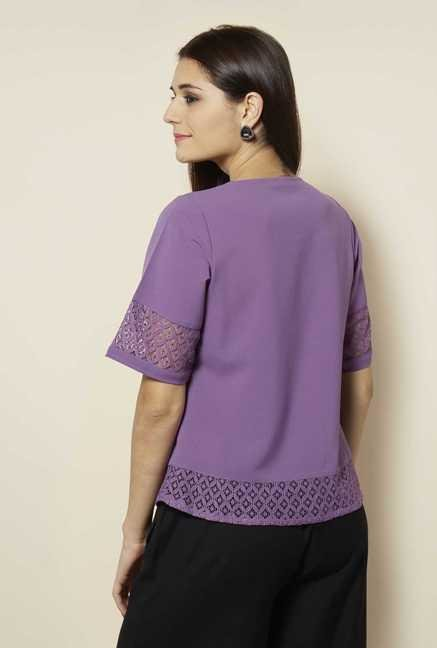 109 F Purple Solid Top