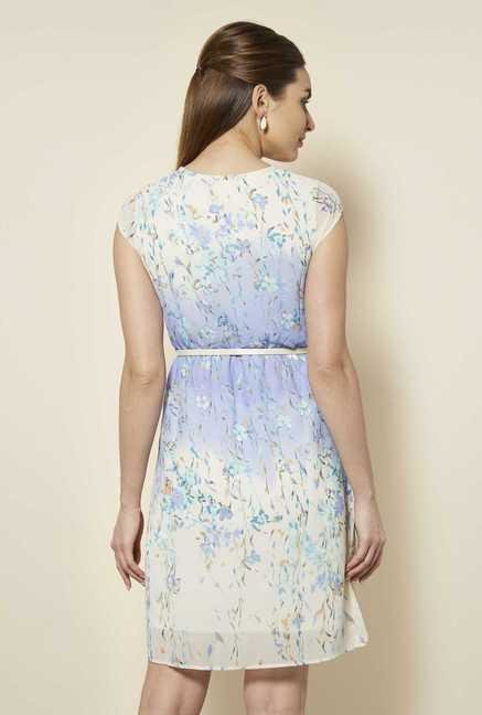 109 F Blue Floral Casual Dress