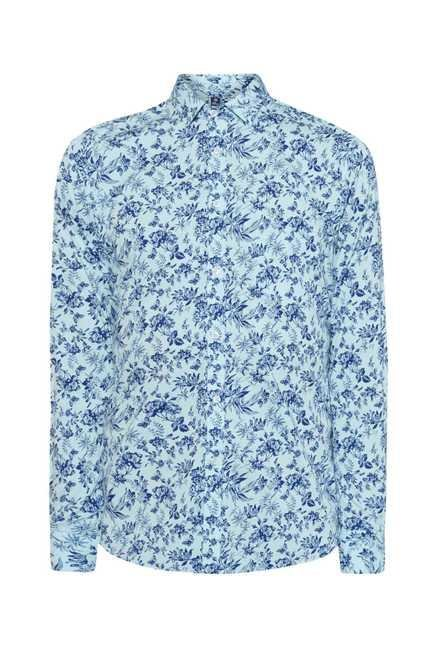 Easies Aqua Print Shirt